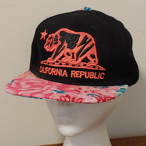 California Republic Pit Bull Floral Snap Back